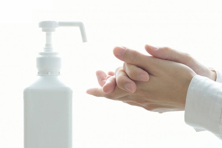 アルコール消毒による環境整備